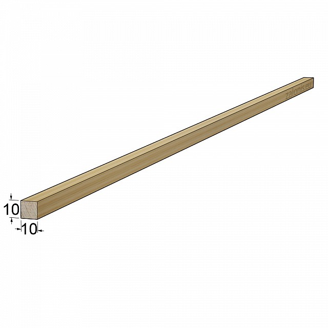 TIMBER SQUARE BEAM 10x10mm / PINE